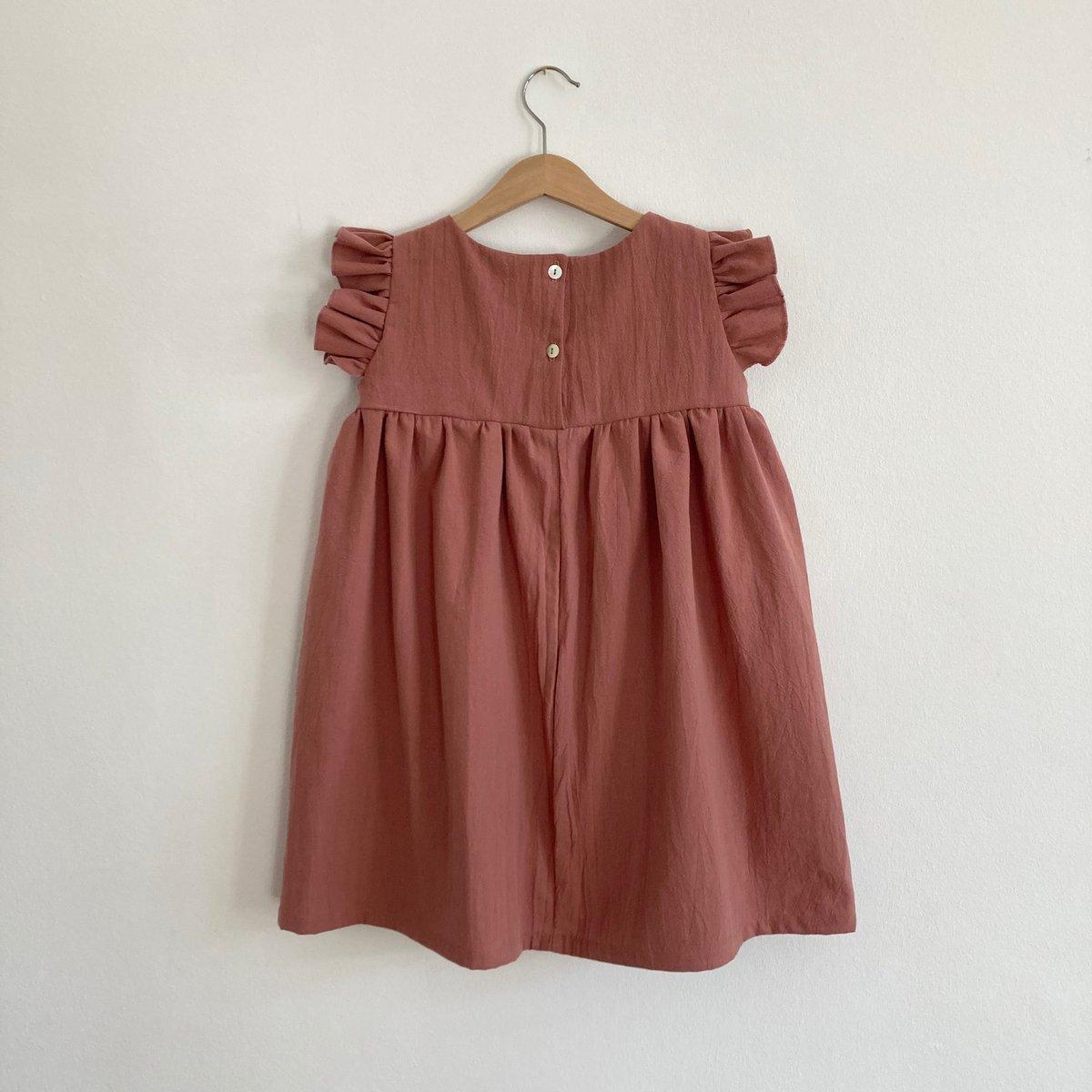Greta Dress- clay pink