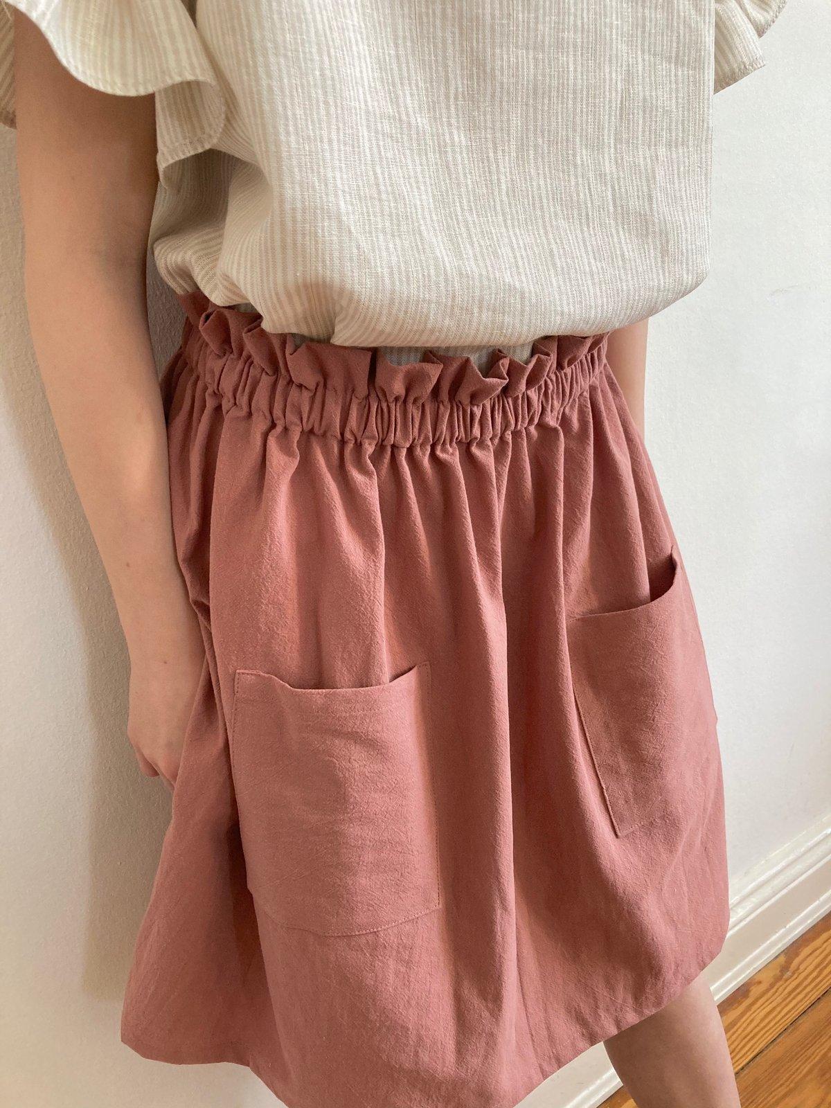 Market Skirt-clay pink