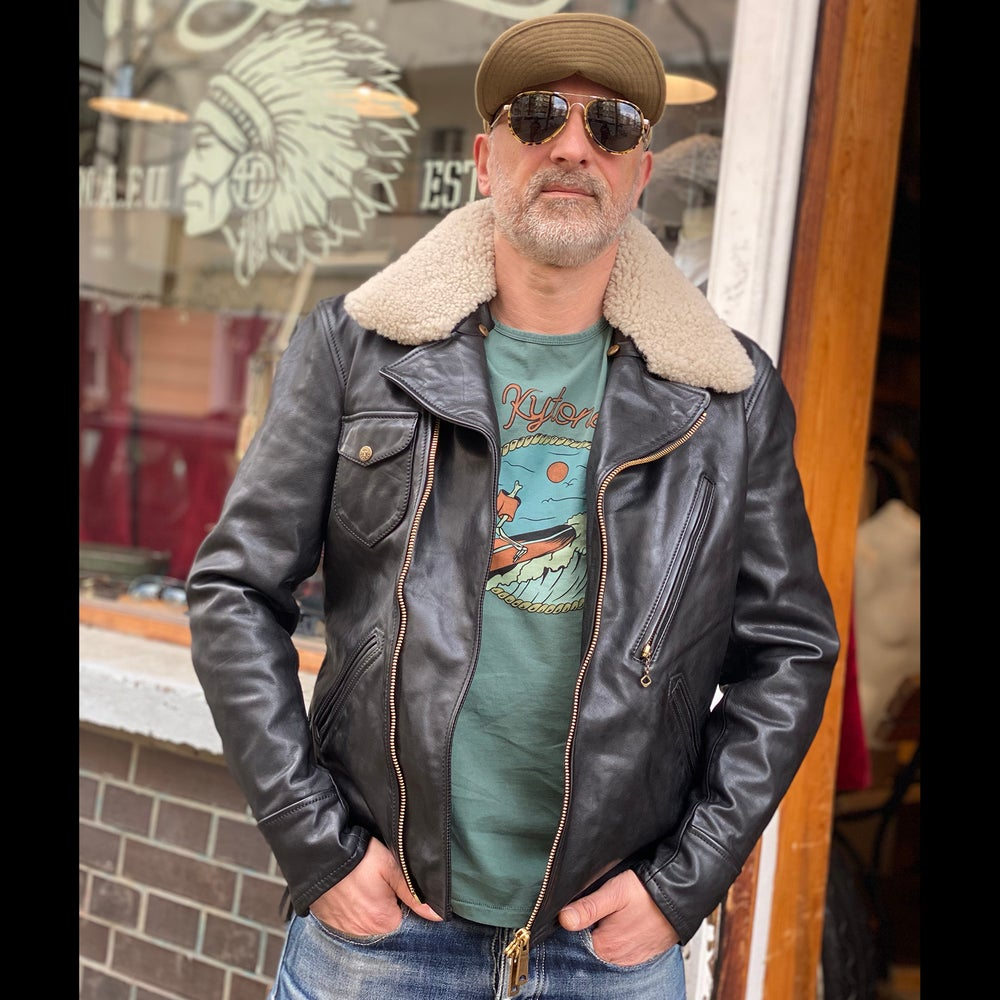 Image of THEDI LEATHERS JACKET MTC-127920 SHEARLING