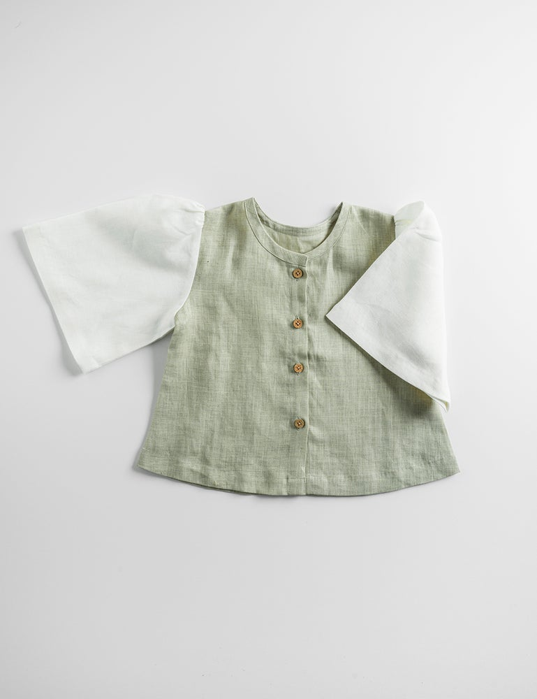 Image of GAIA BLOUSE_SILVER FERN