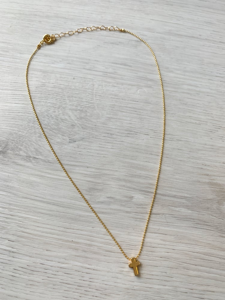 Image of Tiny Cross Necklace