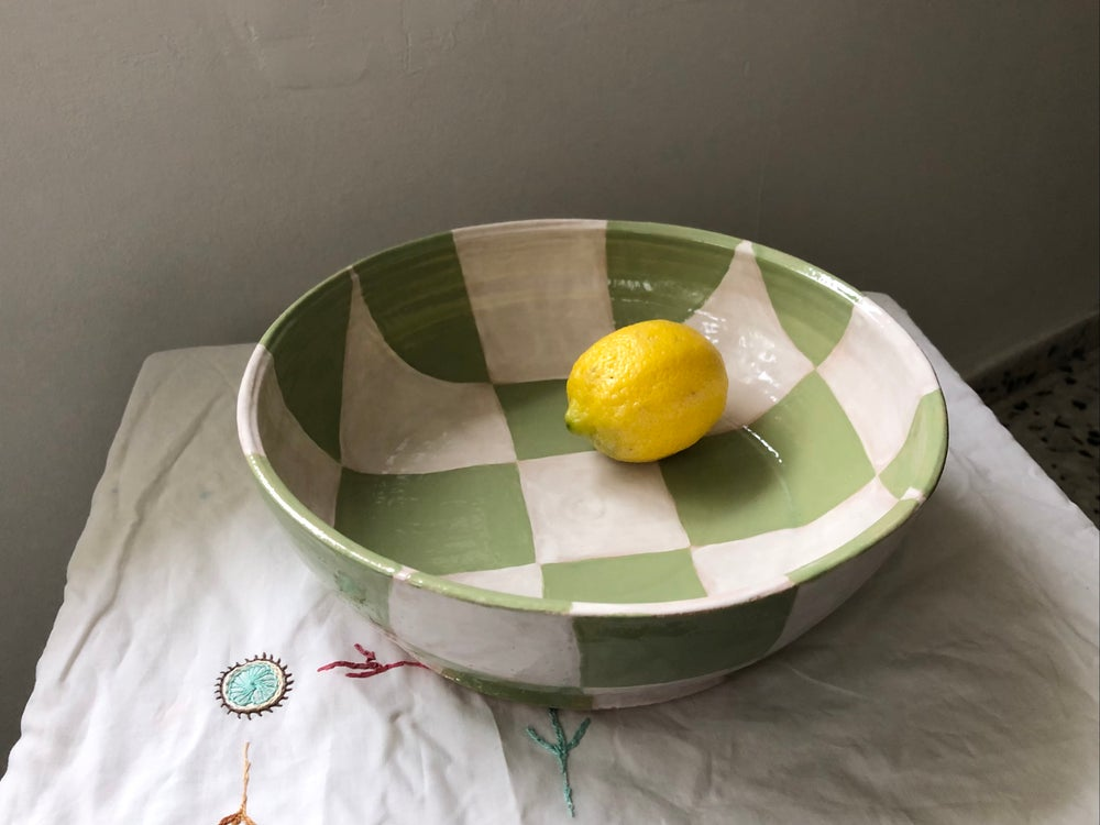 Image of PREORDER :: green/white :: bowl