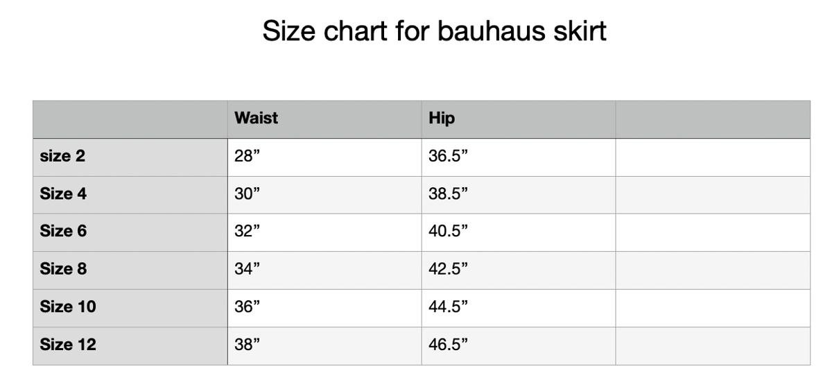 Image of bauhaus skirt natural