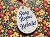 Personalised 'Pasg Hapus' Ceramic Easter Egg Decoration