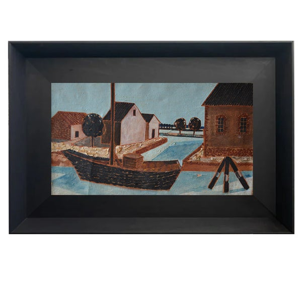 Image of 1946,  French Harbour Scene, Jacques Berland (1918-1999)