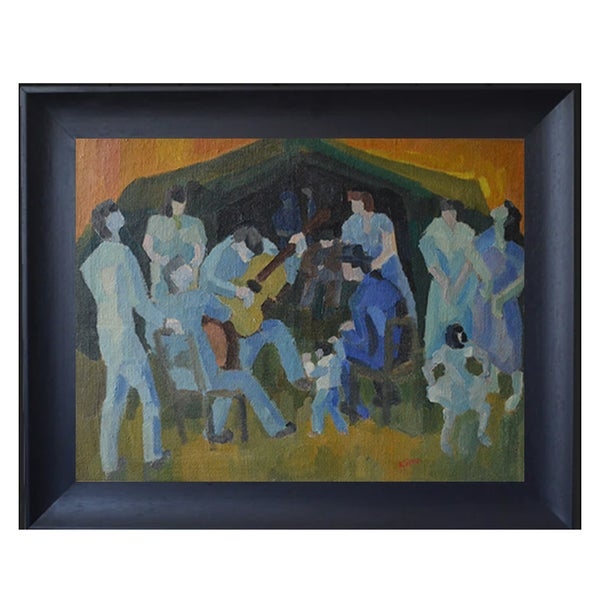 Image of Mid 20thC, French Oil Painting, 'Gypsy Dance.'