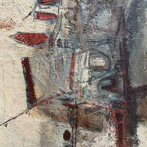 Image of 1977, Large, French, Abstract Expressionist Seascape Painting, Pierre Zucchelli