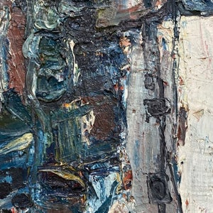 Image of 1976, French Abstract Expressionist Painting, Pierre Zucchelli
