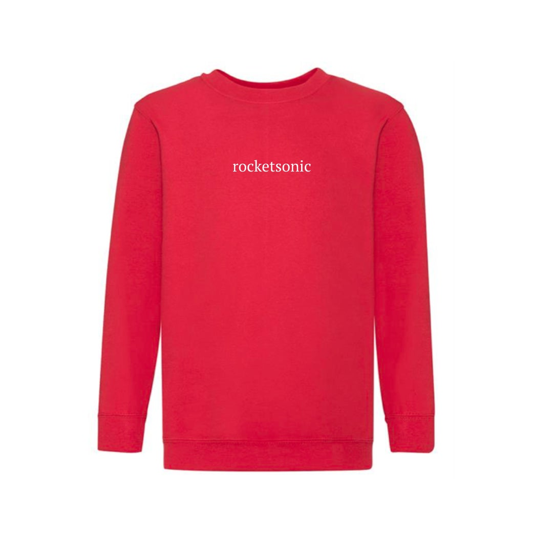Image of Classic Rocketsonic Sweatshirt - Fire Red