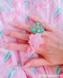 Frosted Sakura ring (Glow-in-the-dark)