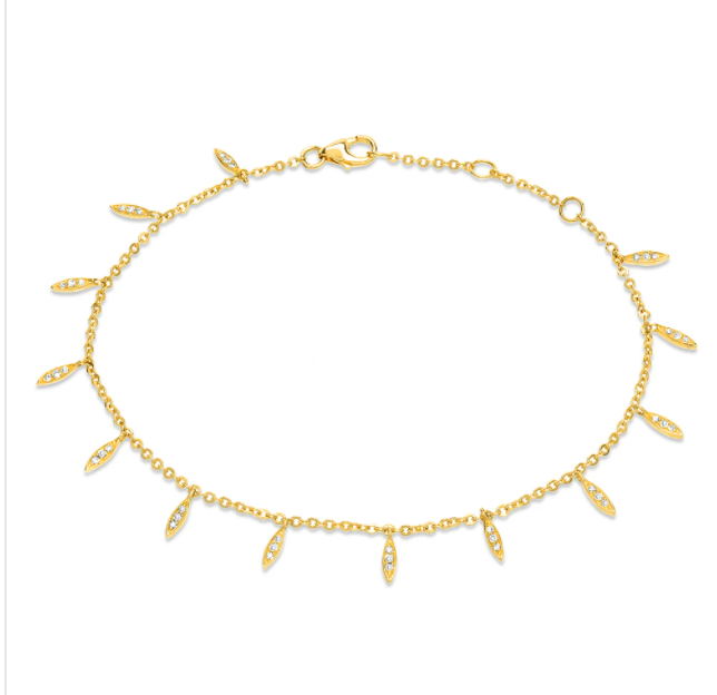Image of  Dainty Drops Bracelet (14 kt and Diamond0