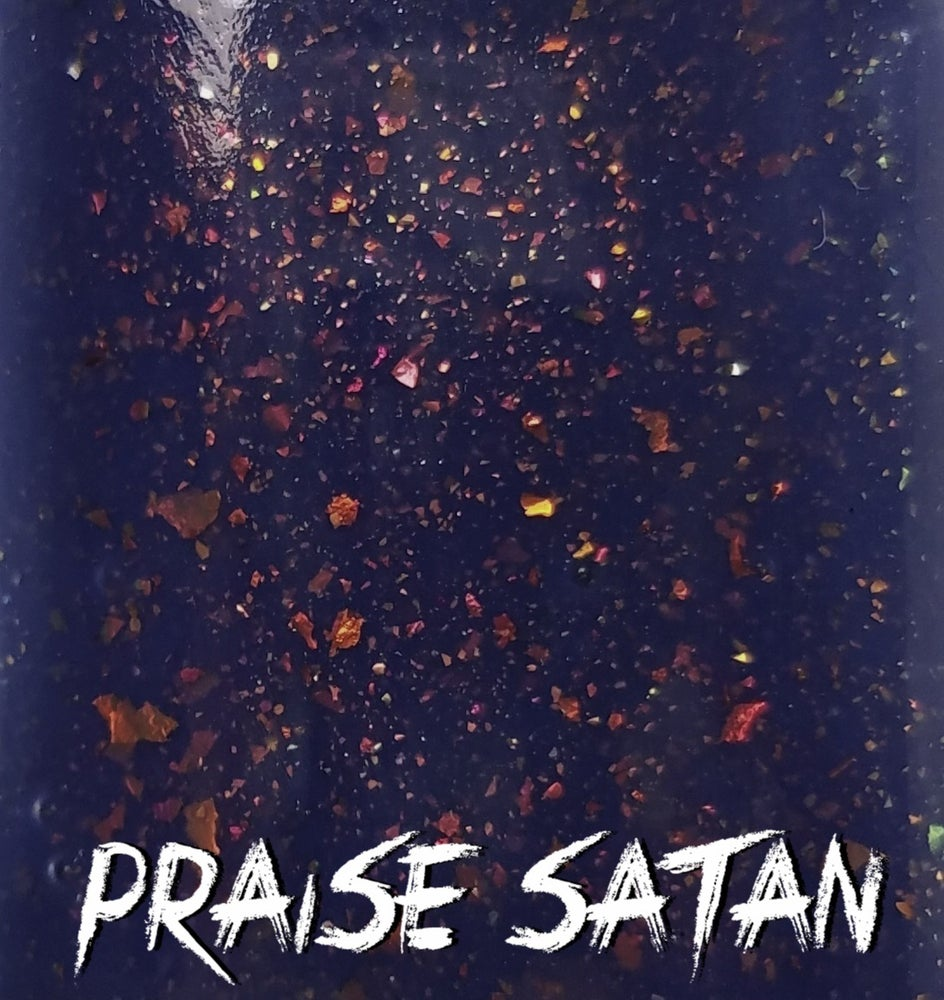 "Image of Season Of The Witch Collection - ""Praise Satan"" Mini size polish"