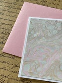 Marbled Notecards Neutrals & Shades of Pink