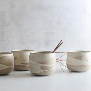 Image of stoneware round tumblers