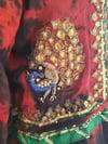 Jewelled  kaftan / dress RED GREEN