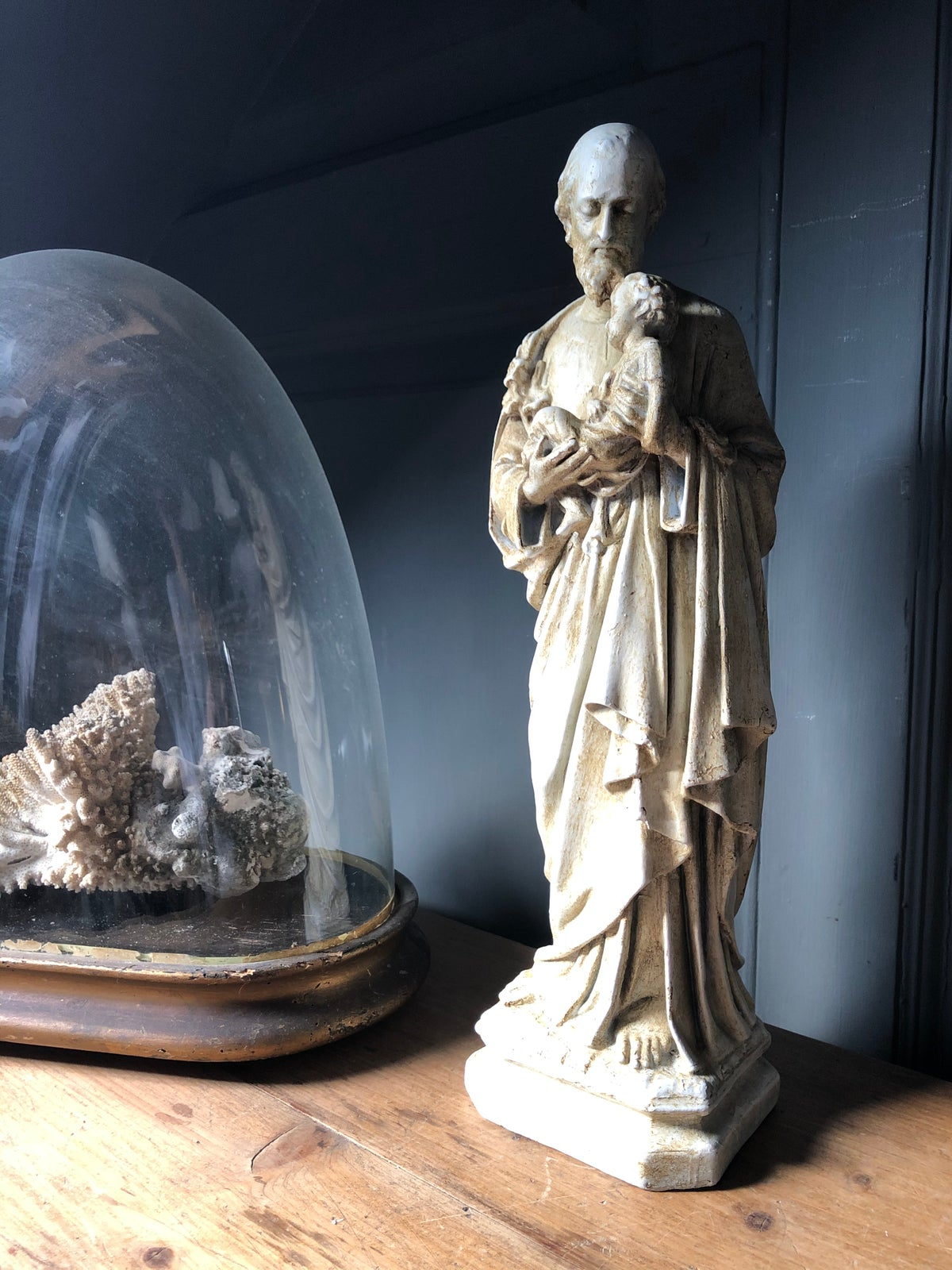 Image of Chalkware religious figure and child