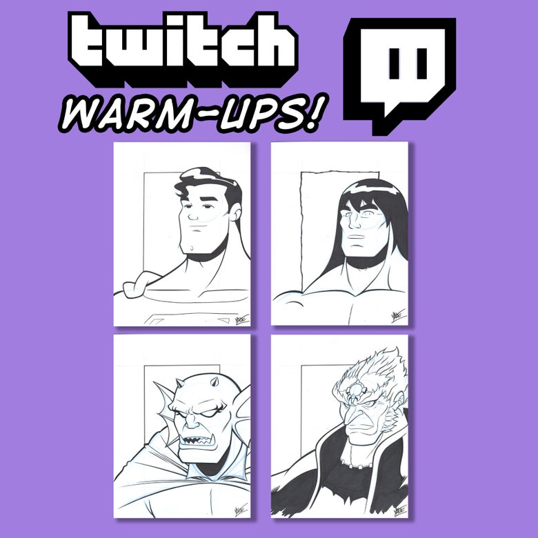 Image of Twitch Warm-Up Sketches! - Gods And Monsters!