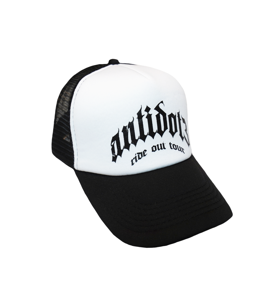 Image of RIDE OUT TOUR TRUCKER HAT BLACK