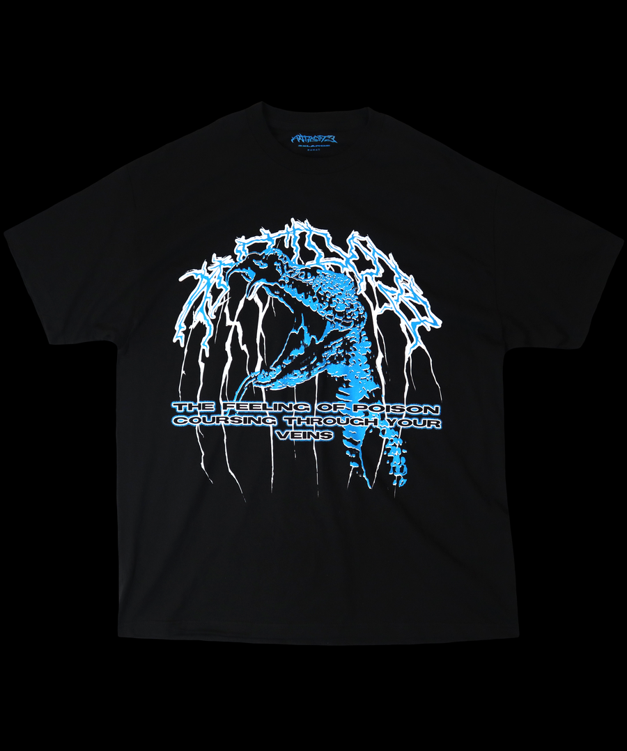 Image of BLUE POISON T-SHIRT BLACK