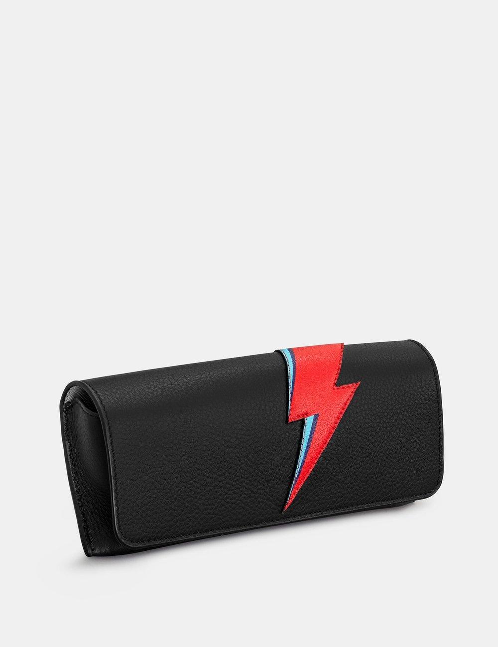 Lightning Bolt black Glasses Case