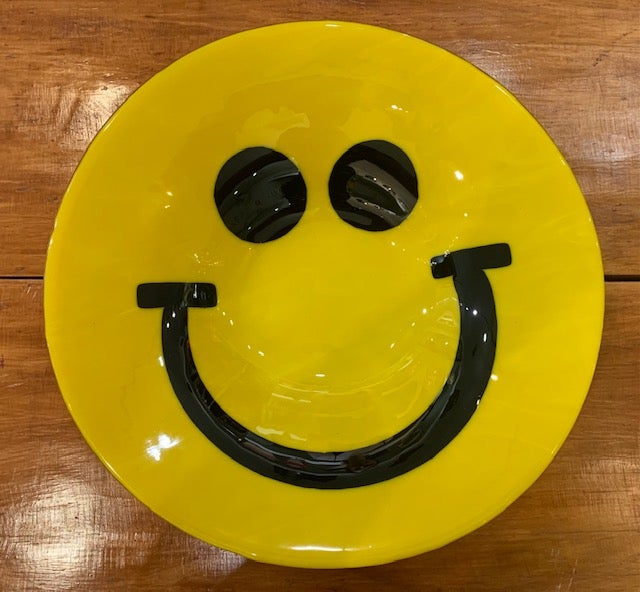 Image of Large Glass Smiley Bowl ;)