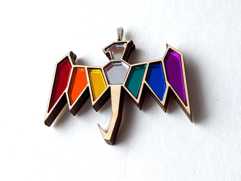 Rainbow Pride Dragon Necklace