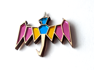 Pansexual Pride Dragon Necklace