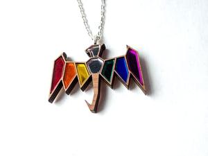Bisexual Pride Dragon Necklace