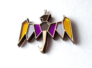 Nonbinary Pride Dragon Necklace