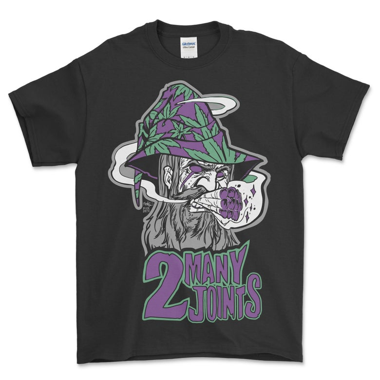 Image of 2 MANY JOINTS THE WEED-ZARD LOGO T SHIRT (PREORDER SHIPS MAY 20TH)