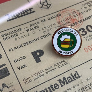 Image of Brussels '91 30 Years Pin Badge