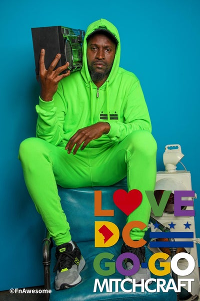 """Image of Big G x MITCHCRAFT Highlighter Green """"Flagship"""" Joggers"""