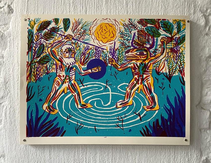 Le Minotaure et Thésée