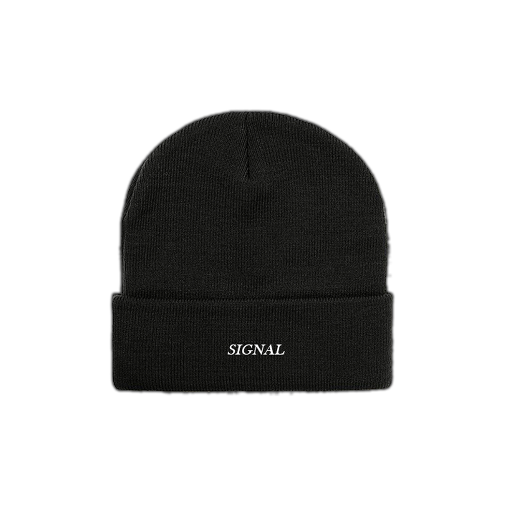 "Image of ""SIGNAL"" Embroidered Beanie - Black"