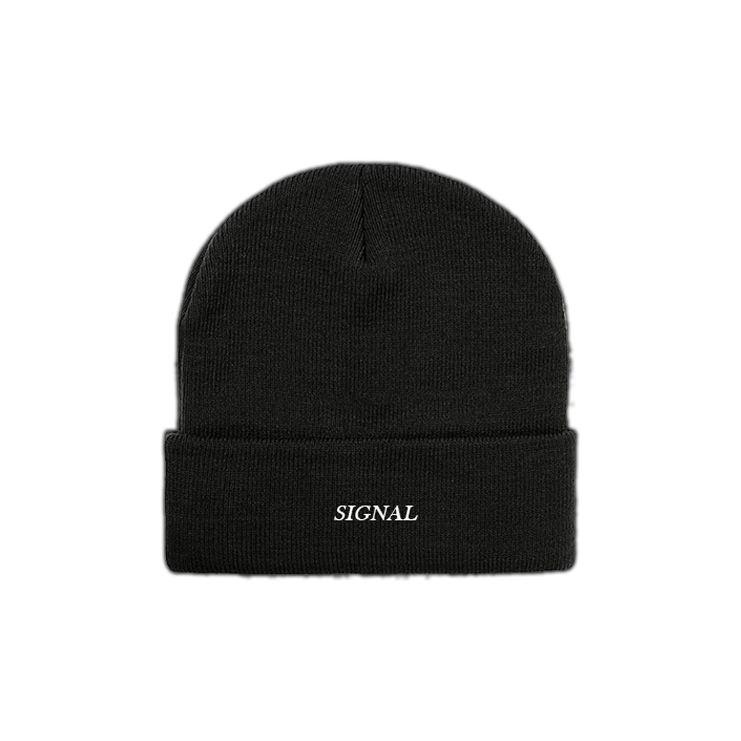 """Image of """"SIGNAL"""" Embroidered Beanie - Black"""