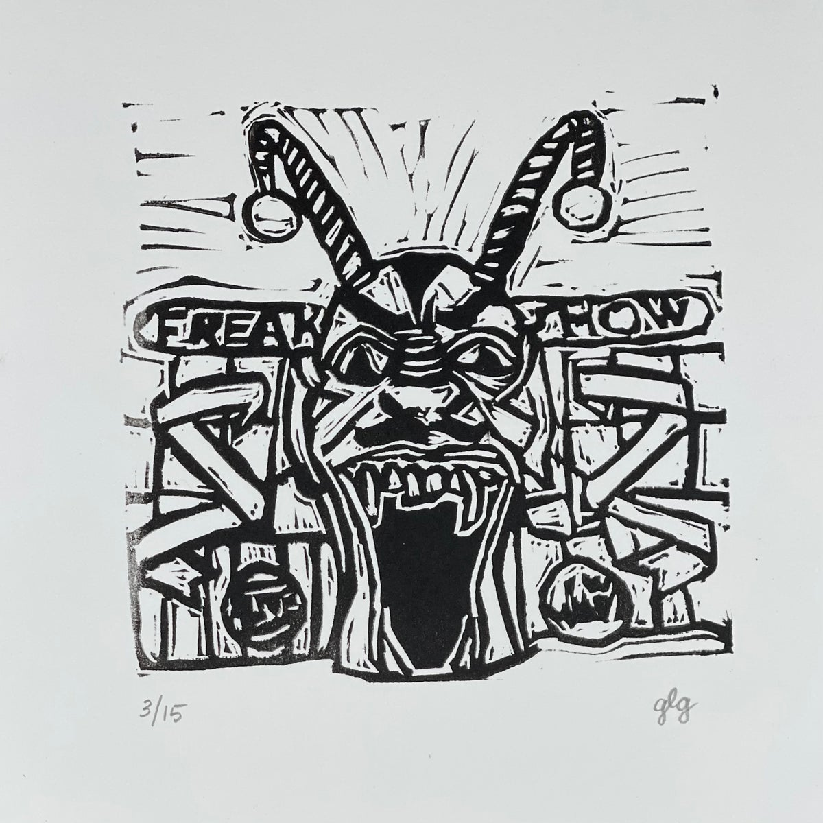 "Image of ""Freak Show"" #1 Limited Edition 6"" x 6"" print"