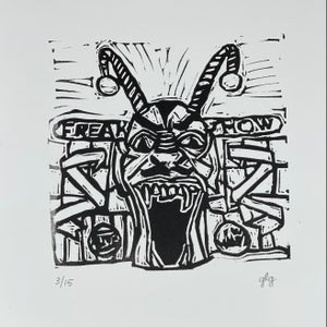 """Image of """"Freak Show"""" #1 Limited Edition 6"""" x 6"""" print"""
