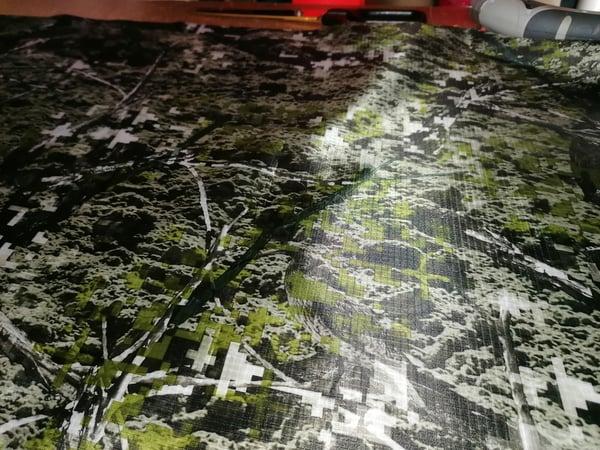Image of Waterproof Camouflage Print, PU Coated Ripstop Nylon x 1 metre x 150cm wide