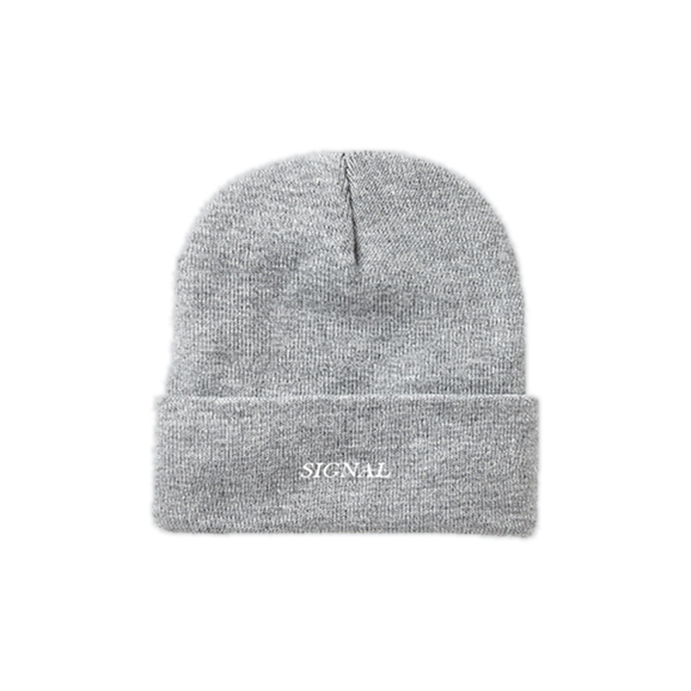 "Image of ""SIGNAL"" Embroidered Beanie - Heather Grey"