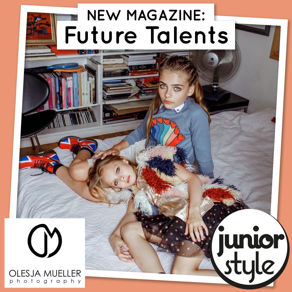Image of deposit - exclusive 4 pages feature shoot in new Junior Style Future Talents magazine