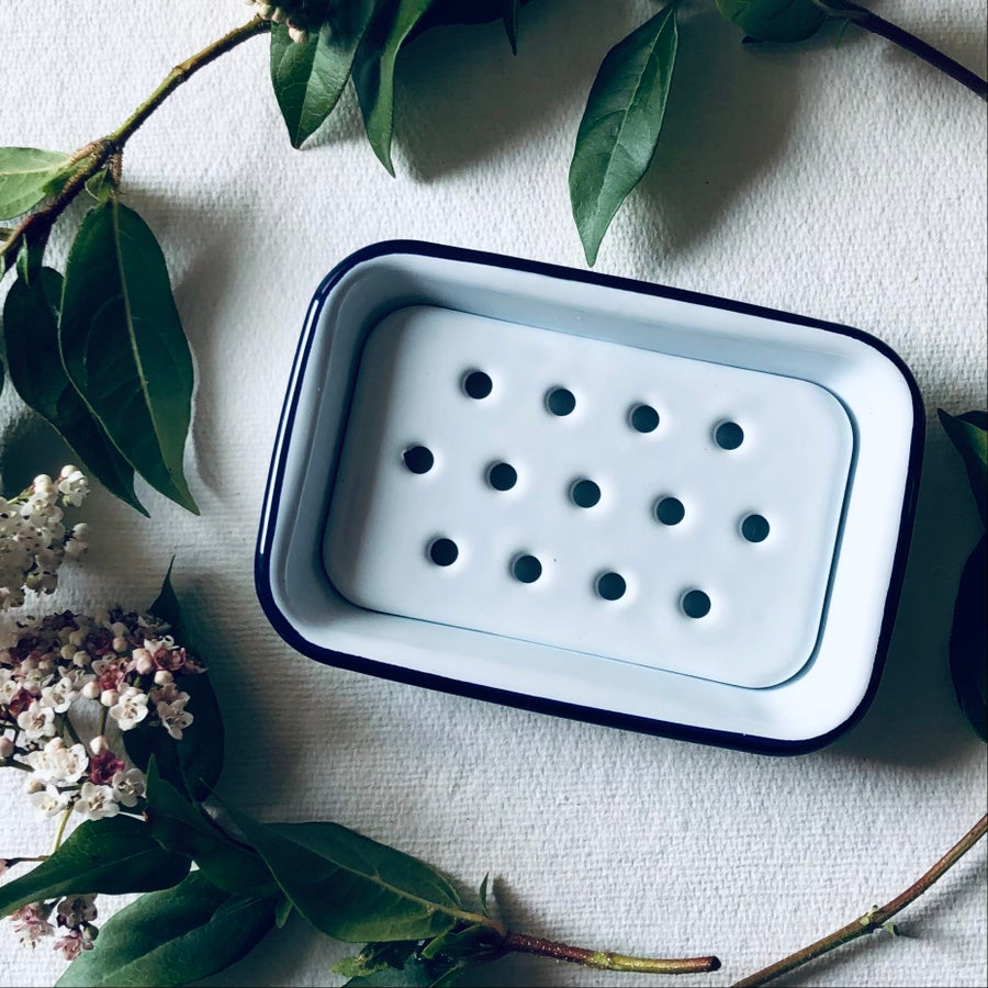 Image of Enamelware Soap Dish