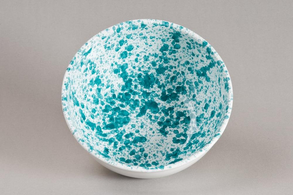 """Image of Insalatiera tradizionale """"screziato verde"""" / Traditional """"Green screziato"""" Salad Bowl"""