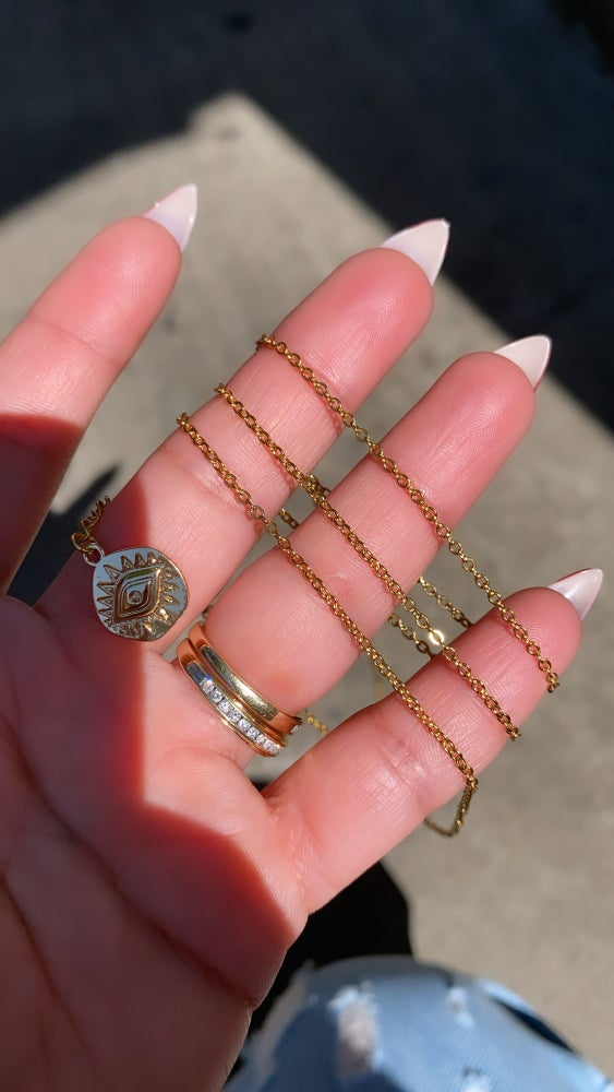 Image of EVIL EYE GOLD PLATED WAIST CHAIN | BELLY CHAIN