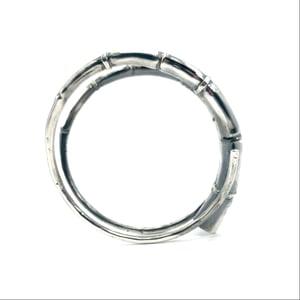 Image of Silver Branch Tendril Bangle Bracelet 02
