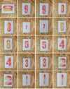 Letterpress Birthday Number Cards - Red / Yellow
