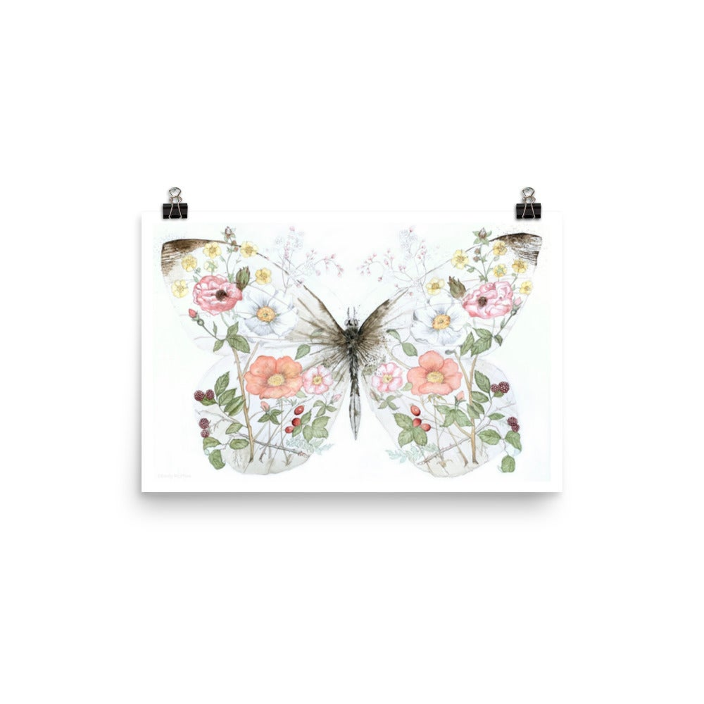 Image of Botanical Butterfly - Fine Art Print