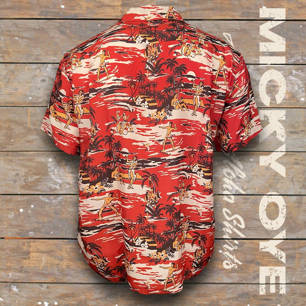 "Image of MICKY OYE HAWAIIAN SHIRT ""SUNSET"""