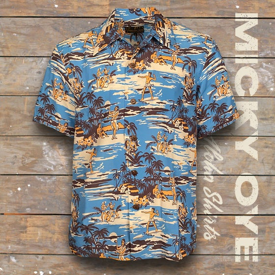 "Image of MICKY OYE HAWAIIAN SHIRT ""OCEAN"""