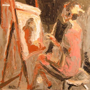 Image of Painting of Artist Painting