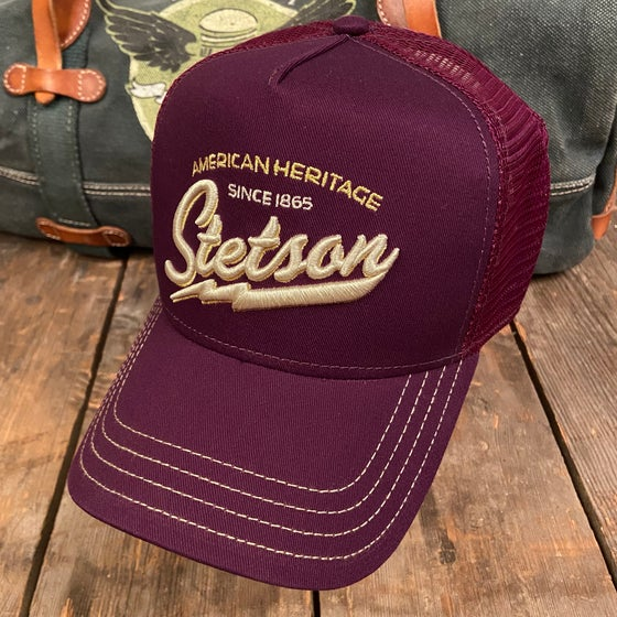 "Image of STETSON MESH CAP ""Blitz"" Purple"